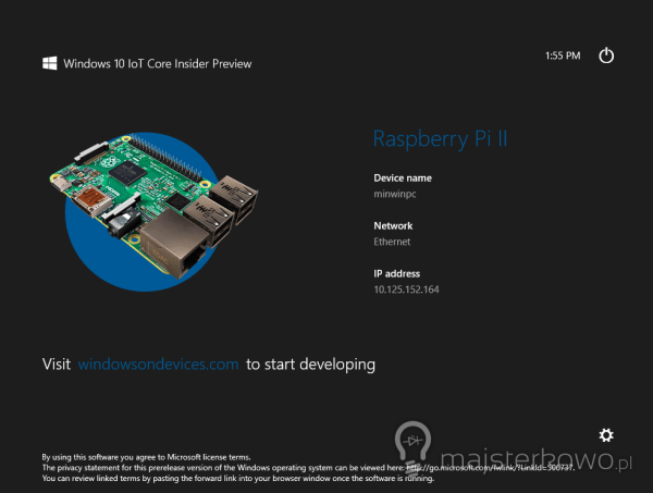 Windows 10 dla Raspberry Pi 2